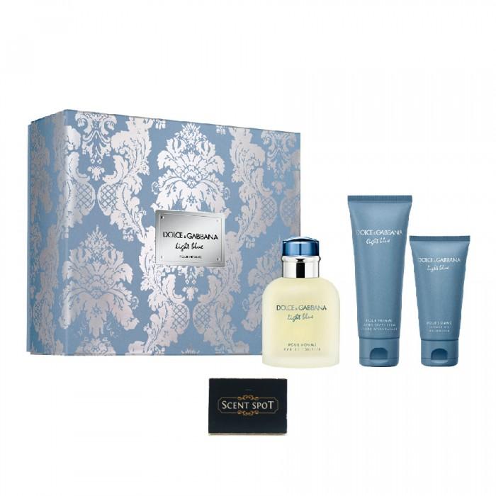 Light Blue by Dolce & Gabbana (Gift Set) - 125 ml Eau de Toilette Spray + 50 ml Shower Gel + 50 ml After Shave Balm (Men)