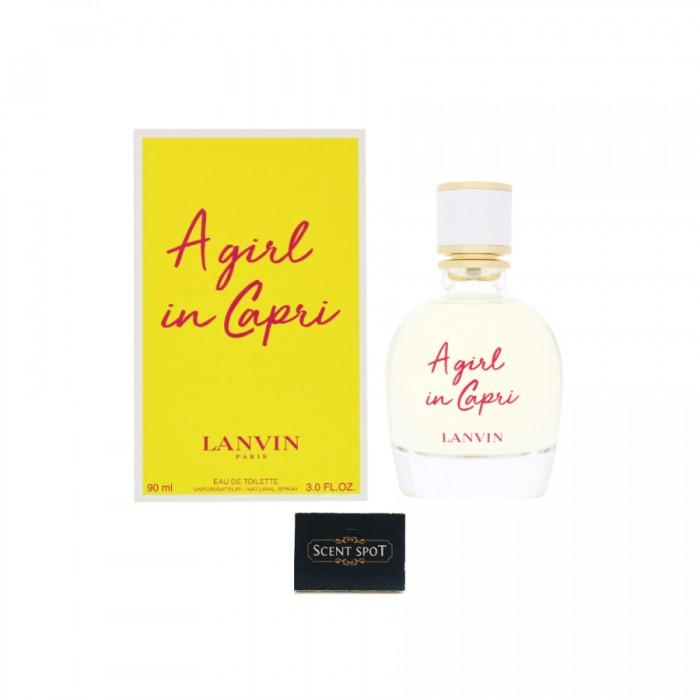 A Girl In Capri by Lanvin (New in Box) 90ml Eau De Toilette Spray (Women)