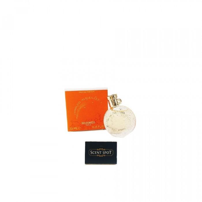 L'ambre Des Merveilles by Hermes (Miniature / Travel) 7.5ml Eau De Parfum Dab On (Unisex)