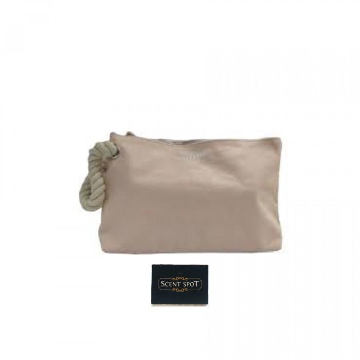 Toiletry Bag by Jean Paul Gaultier (Toiletry Bag) (Colour: Peach - 19cm x 5cm x 13cm) (Unisex)