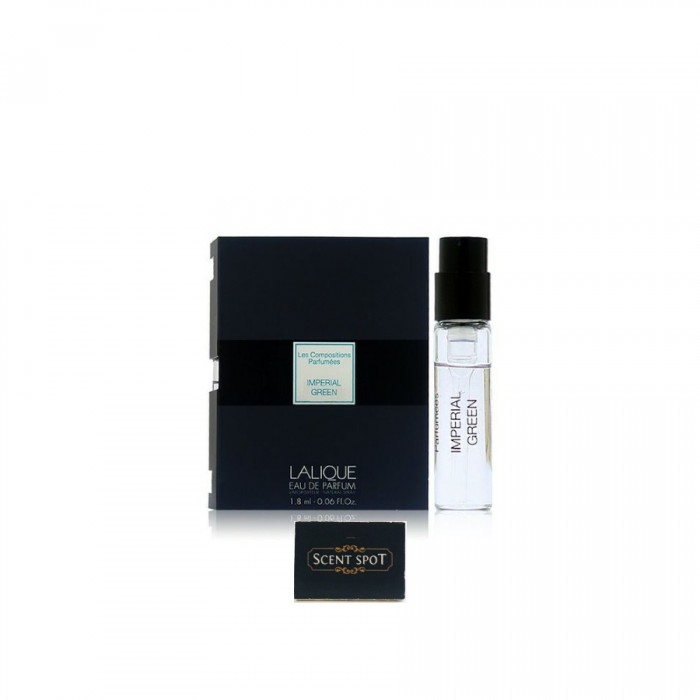 Imperial Green by Lalique (Vial / Sample) 1.8ml Eau De Parfum Spray (Unisex)