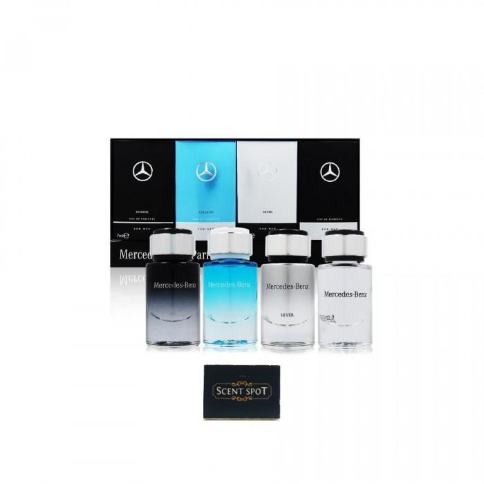 Mercedes Benz (Intense + Silver + Cologne + Men) by Mercedes Benz (Miniature / Travel) 4x7ml Eau De Toilette Dab On (Men)