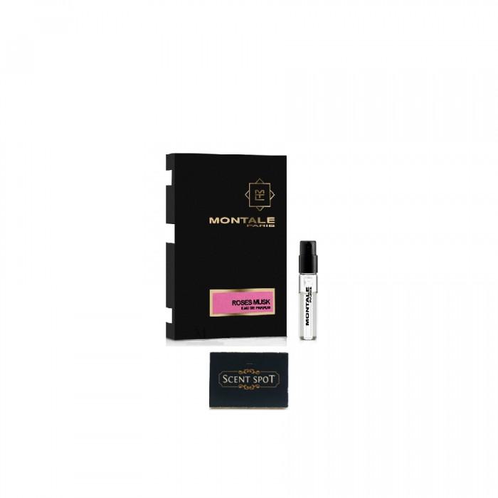 Roses Musk by Montale (Vial / Sample) 2ml Eau De Parfum Spray (Women)