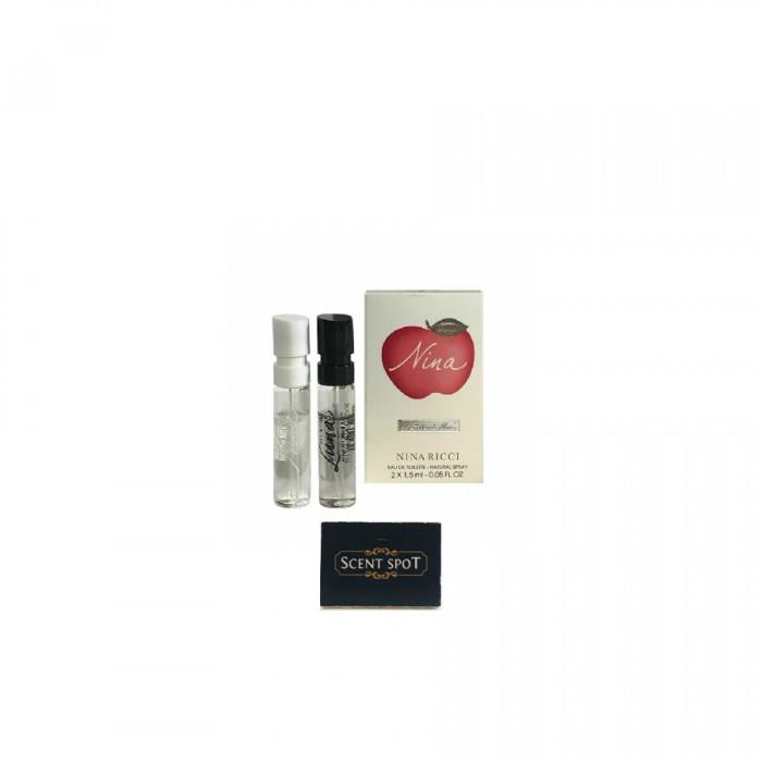 Nina Ricci Apple + Nina Ricci Luna by Nina Ricci (Vial / Sample) 2ml+1.5ml Eau De Toilette Spray (Women)