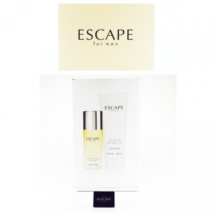 Escape by Calvin Klein (Gift Set) - 100ml Eau De Toilette Spray + 200ml After Shave Balm (Men)