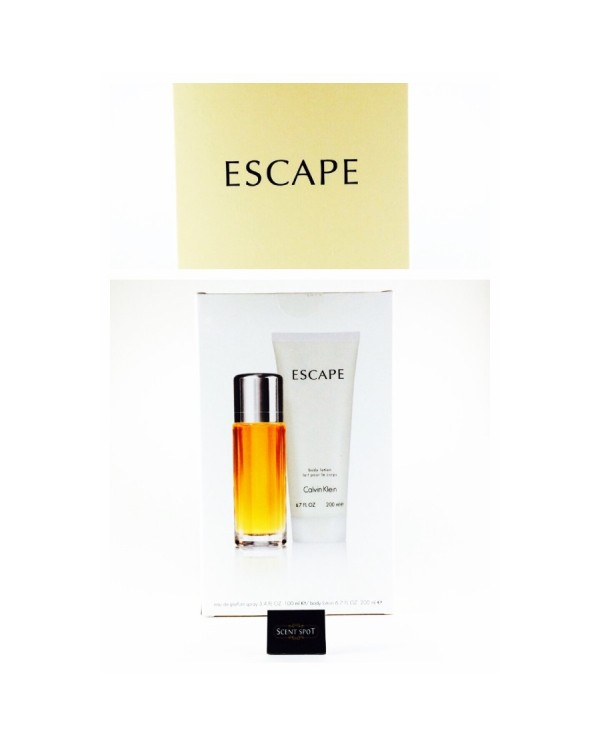 Escape by Calvin Klein (Gift Set) - 100ml Eau De Parfum Spray + 200ml Body Lotion (Women)