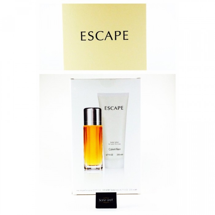 Escape by Calvin Klein (Gift Set) - 100ml Eau De Parfum Spray + 200ml Body Lotion (Women)