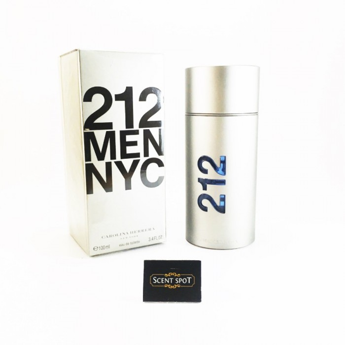 212 NYC by Carolina Herrera (New in Box) 100ml Eau De Toilette Spray (Men)