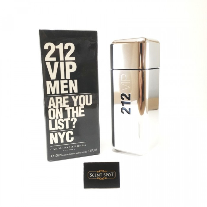 212 VIP by Carolina Herrera (New in Box) 100ml Eau De Toilette Spray (Men)