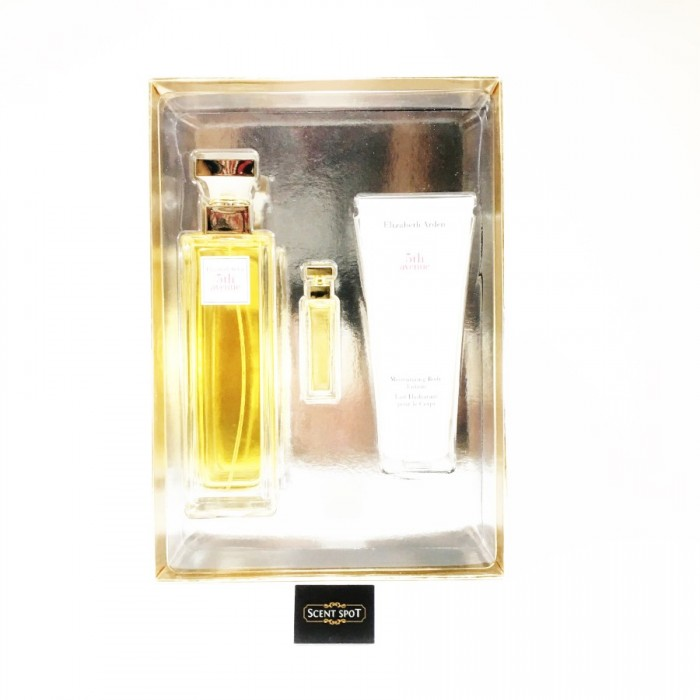 5th Avenue by Elizabeth Arden (Gift Set) - 125ml Eau De Parfum Spray + 4ml Mini + 100ml Body Lotion (Women)