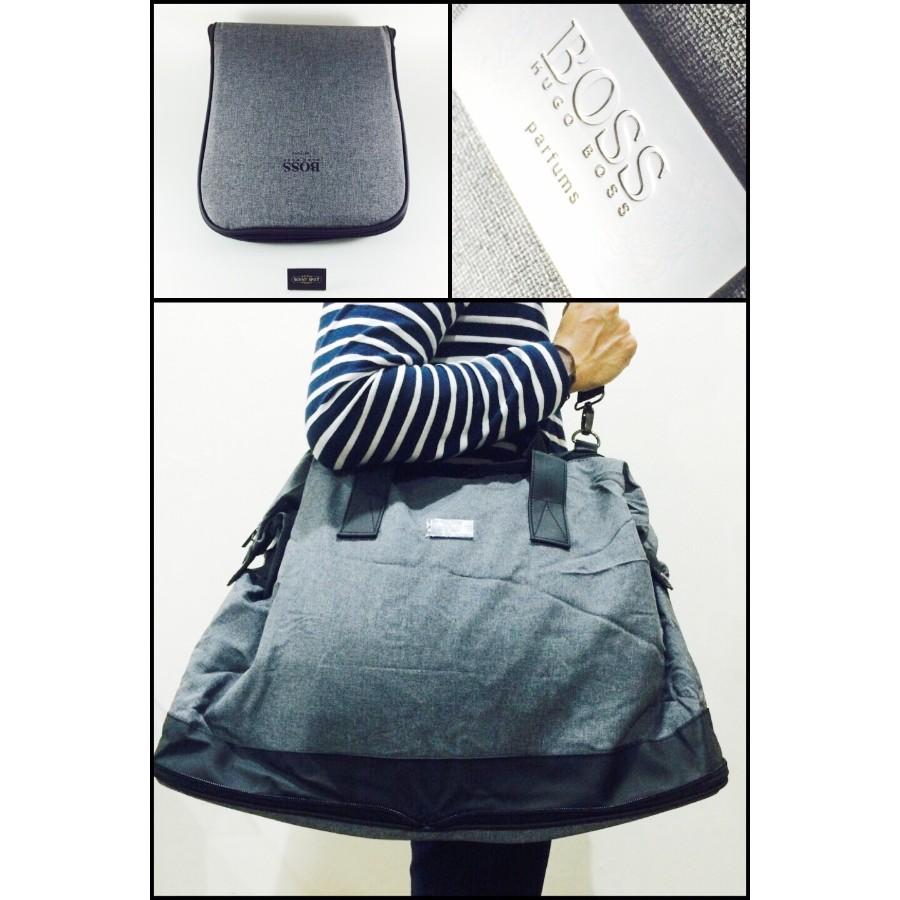 f91ae692e1 Colour  Grey and Black - 50cm x 20cm x 40cm by Hugo Boss (Travel Bag)