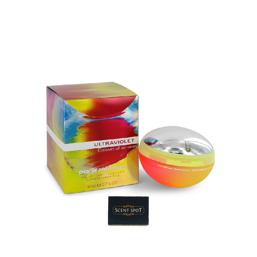 Ultraviolet Colours Of Summer by Paco Rabanne (New in Box) 80ml Eau De Toilette Spray (Women)